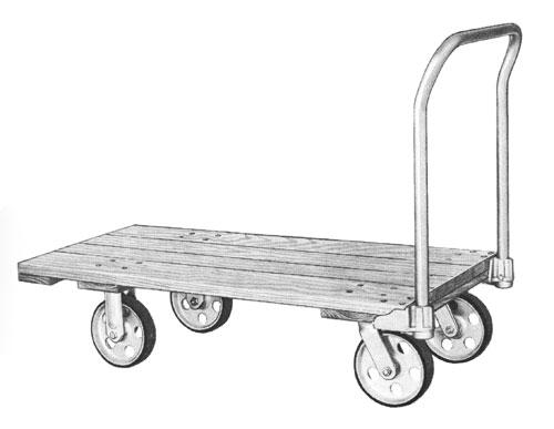 Nutting Platform Truck with hardwood deck